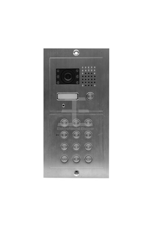 Einfamilienanlage mit Codetastatur SAC601DN-CD Unterputz / Edelstahl