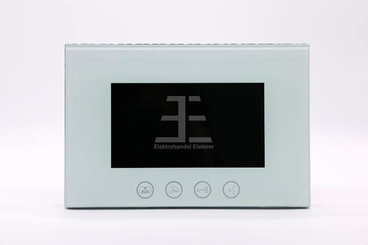 Bildschirm PVA-828C-7, 7 Zoll, türkisweiß, Touchtasten