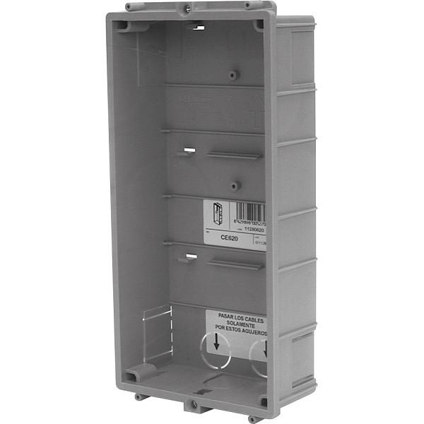 CE620 Unterputzgehäuse 2 Module / System INOX Edelstahl