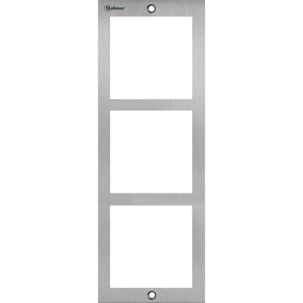 NX6003  Rahmen 3 fach Edelstahl