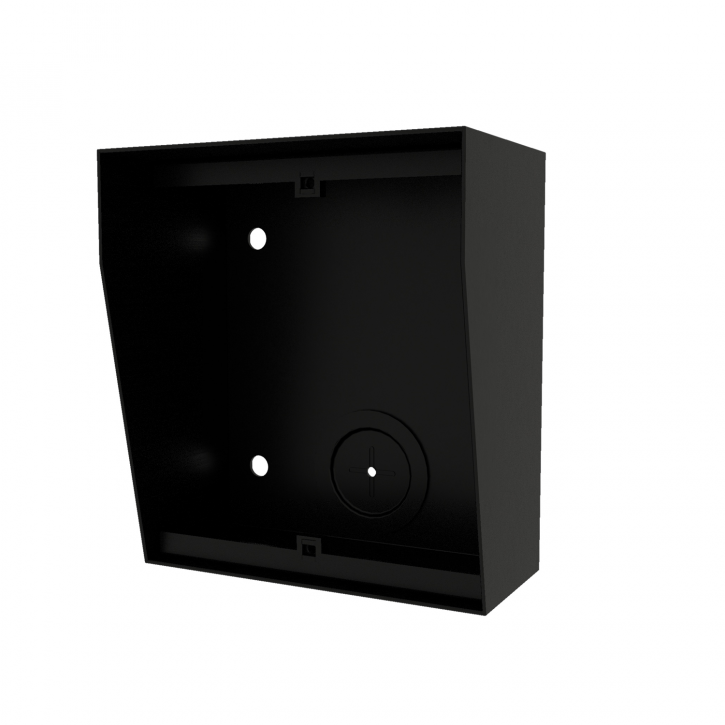 NX871 BLACK surface box with integrated rain shield