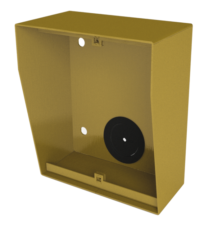 NX871 GOLD surface box with integrated rain shield