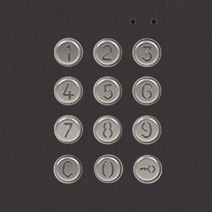 NX3301 BLACK access control keypad module
