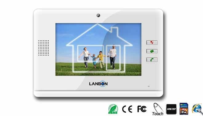 Zusatzbildschirm Einfamilien Video-Sprechanlage über 230V