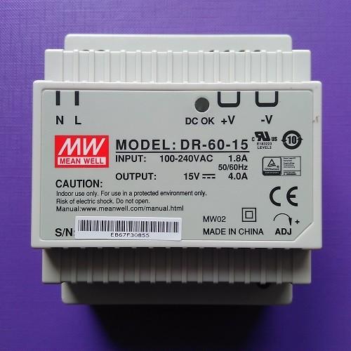 Netzteil 15 VDC 4000mA DR-60-15