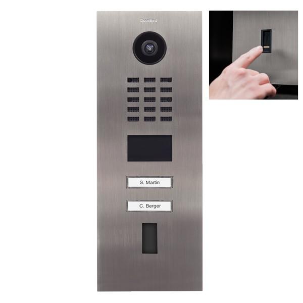 Doorbird D2102FV Netzwerk-Video-Sprechanlage für Ekey Fingerprint (LAN)