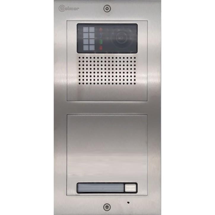Türstelle NX-K-1 (eine Klingeltasten, Video, Front Edelstahl, Unterputz)