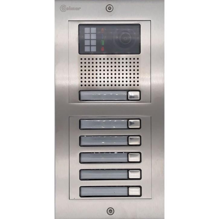 Türstelle NX-K1-5 (sechs Klingeltasten, Video, Front Edelstahl, Unterputz)