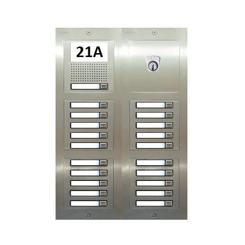 Türstelle NX-A1-4x5-P (21 Klingeltasten, Audio, Postzylinder, Front Edelstahl, Unterputz)