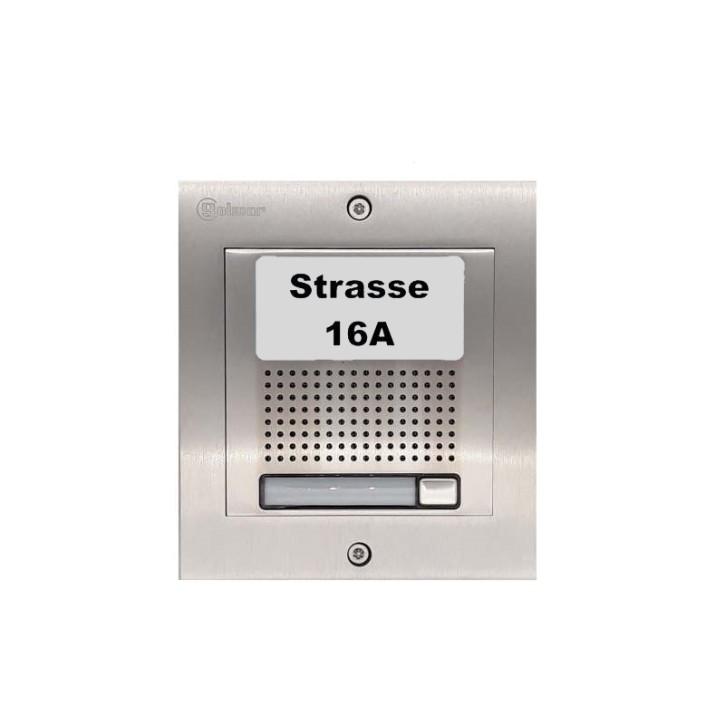Türstelle NX-A1 (eine Klingeltaste, Audio, Front Edelstahl, Unterputz)