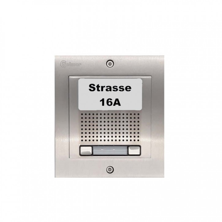Türstelle NX-A2 (zwei Klingeltasten, Audio, Front Edelstahl, Unterputz)