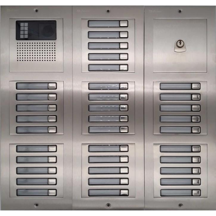 Türstelle NX-K-7x5-P (35 Klingeltasten, Video, Postzylinder, Front Edelstahl, Unterputz)
