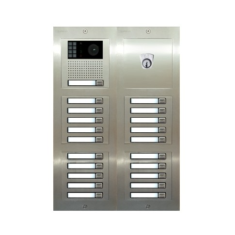 Türstelle NX-K1-4x5-P (21 Klingeltasten, Video, Postzylinder, Front Edelstahl, Unterputz)