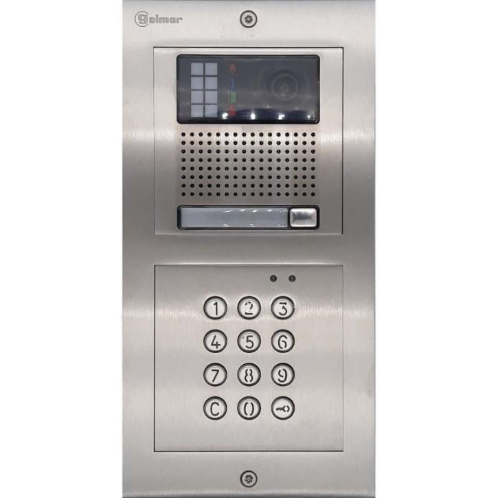 Türstelle NX-K1-C (eine Klingeltaste, Video, Codetastatur, Front Edelstahl, Unterputz)