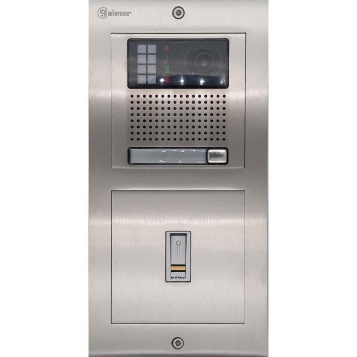 Türstelle NX-K1-E (eine Klingeltaste, Video, E-Key, Front Edelstahl, Unterputz)
