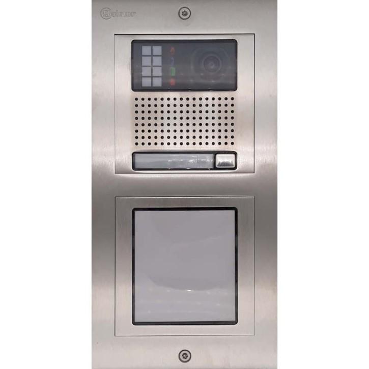 Türstelle NX-K1-I (eine Klingeltaste, Video, Infofeld, Front Edelstahl, Unterputz)