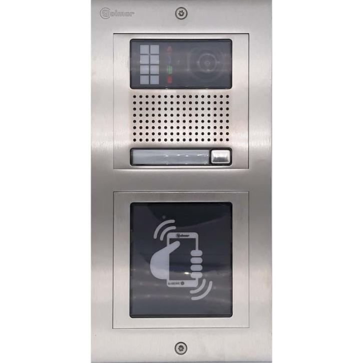 Türstelle NX-K1-N (eine Klingeltaste, Video, NFC, Front Edelstahl, Unterputz)