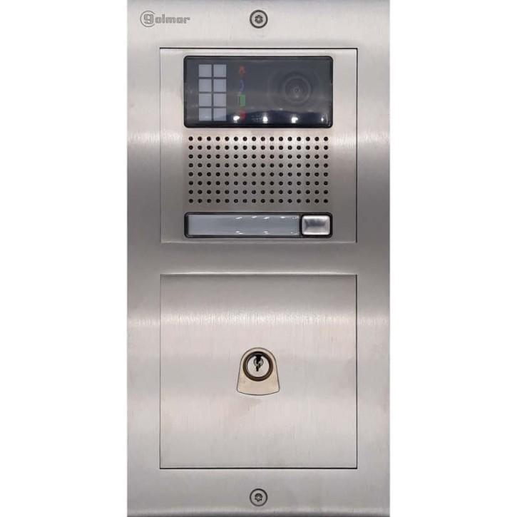 Türstelle NX-K1-P (eine Klingeltaste, Video, Postschloss, Front Edelstahl, Unterputz)