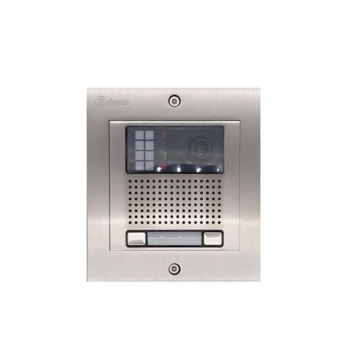 Türstelle NX-K2 (zwei Klingeltasten, Video, Front Edelstahl, Unterputz)