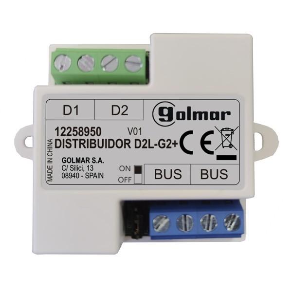 D2L-G2+ - 2-fach Verteiler für Monitore