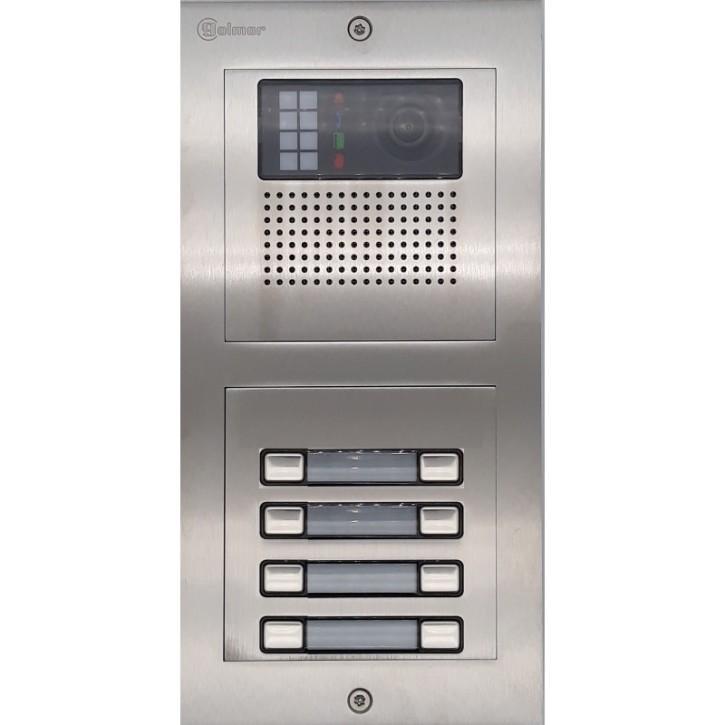 Türstelle NX-K-8 (acht Klingeltasten, Video, Front Edelstahl, Unterputz)