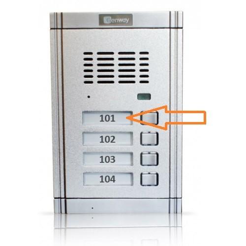 Namensschild Genway WL-02 (Audioanlage und Videoanlage) / Preis für ein Namensschild