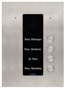 PDA104S - Audio-Türstation mit vier Klingeltasten