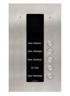 PDA105S - Audio-Türstation mit fünf Klingeltasten