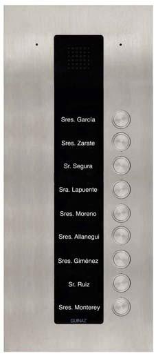 PDA109S - Audio-Türstation mit neun Klingeltasten