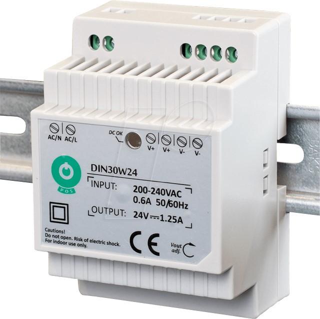DIN30W12 Schaltnetzteil, Hutschiene, 30 W, 12 V, 2,5 A