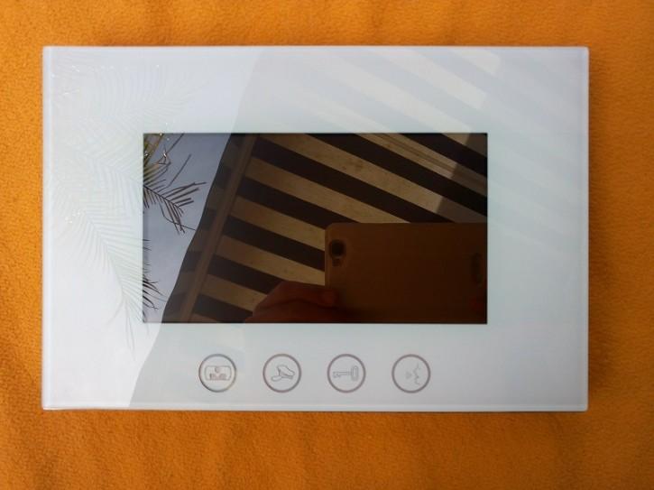 Bildschirm PVA-828RC-7, 7 Zoll, türkisweiß, Touchtasten