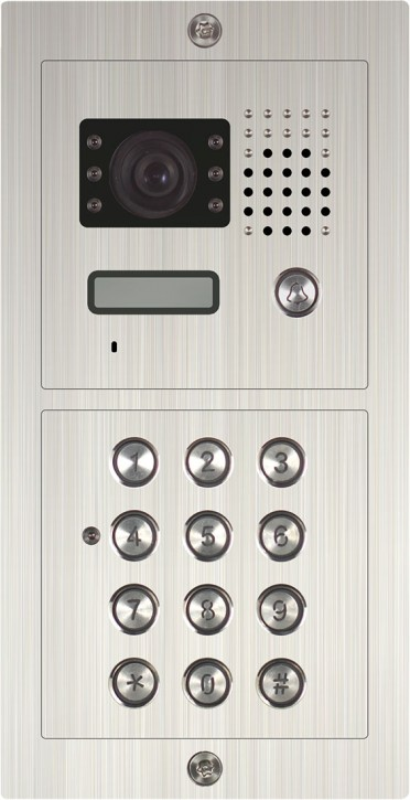 Einfamilienanlage mit Codetastatur SAC601DN-CD-2 Unterputz / Edelstahl