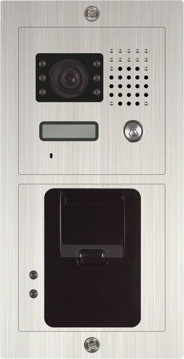 ABV388 - Einfamilienanlage mit Fingerprint SAC601C-CZ Unterputz / Edelstahl