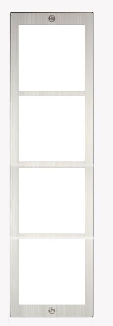 Rahmen 4-fach, inkl. Unterputz-Kasten SAC701B-KC4