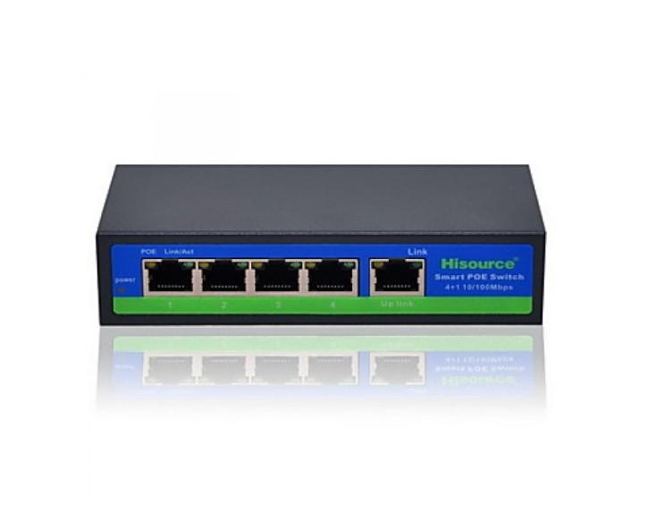 4-Port PoE Switch + 1 x Uplink 100Mb / s