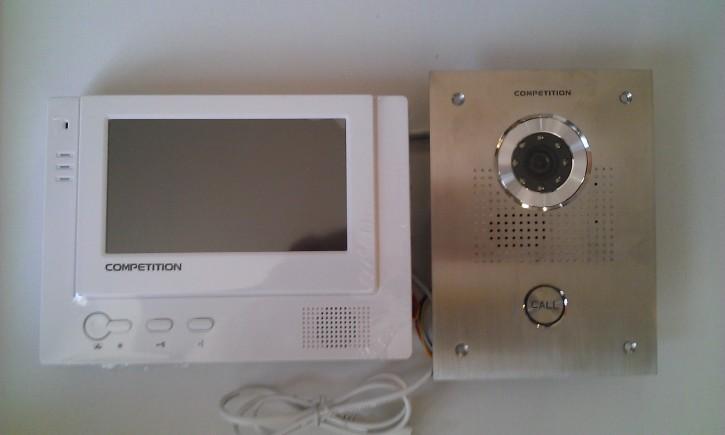 ABV55 - Set Türstation + Bildschirm weiß / 230V (SAC551C-CQ + MT370C-CQ)