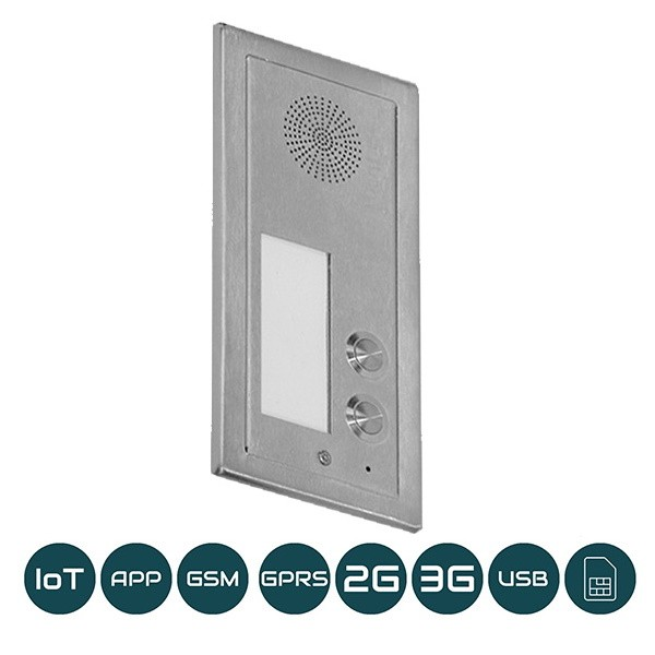 DP-GSM-3G-FM2 Unterputz / Zwei Klingeltasten / 2G+3G