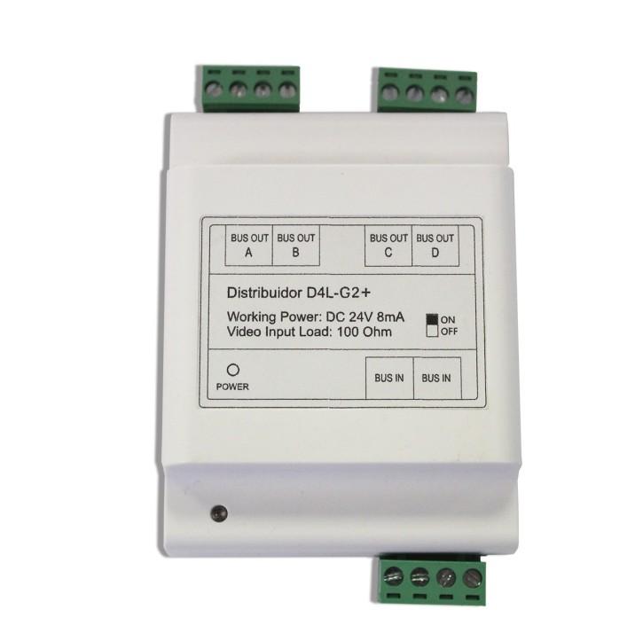 D4L-G2+ / DIN - 4-fach Verteiler für Monitore