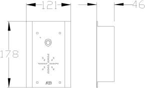 603-EDF DECT Sprechanlage Unterputzmontage