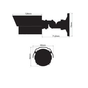 Aussenkamera LICE24NSSA mit 20m IR / 3.6 MM