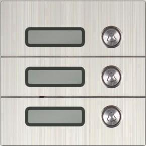 Set: Drei Klingeltasten, Codetastatur