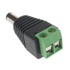 Stromstecker für CCTV-Kamera 2,1mm / 5,5 mm